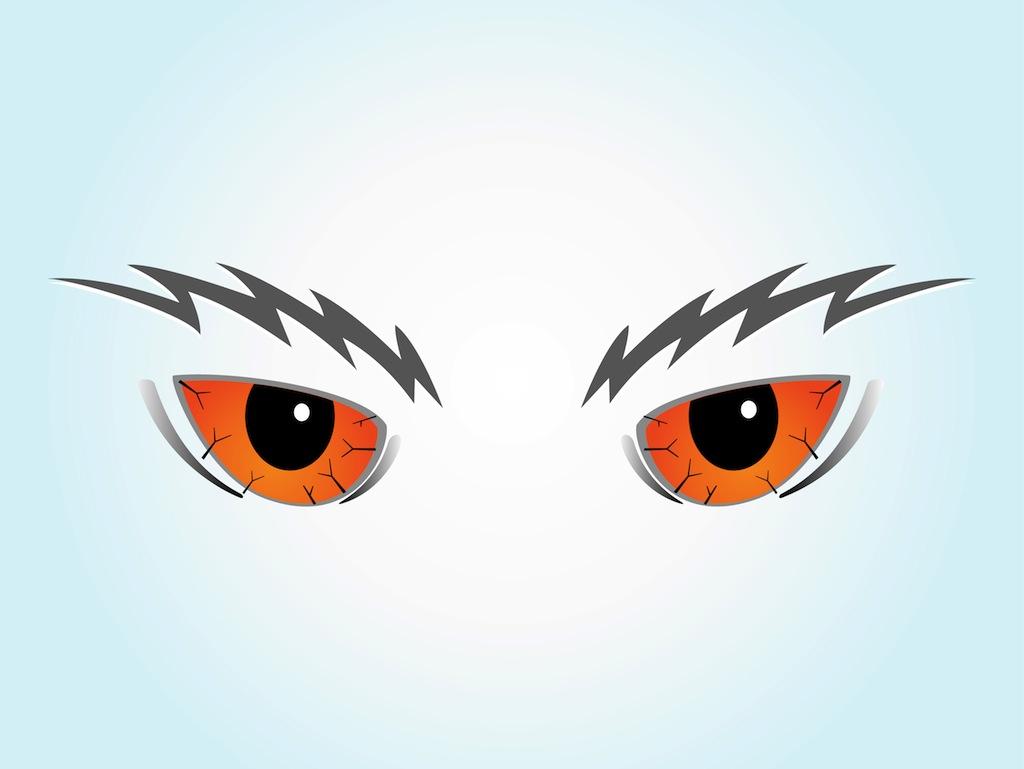 Scared Cartoon Eyes.