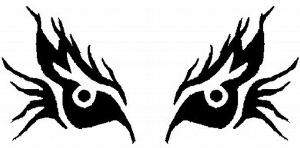 scary eyes clipart black and white