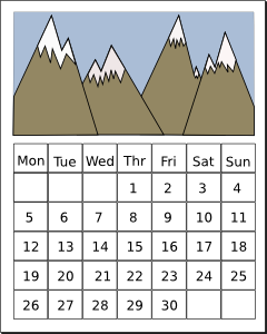 School Calendar Clip Art School Calendar, Calendar Free Clipart.