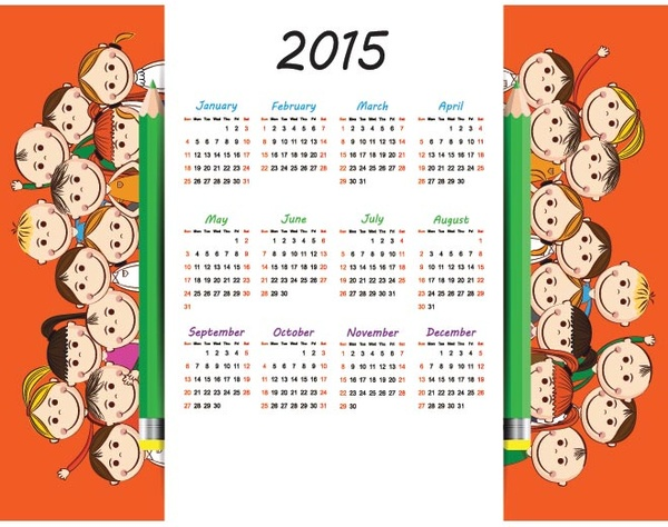 Free Clip Art Calendar for School.