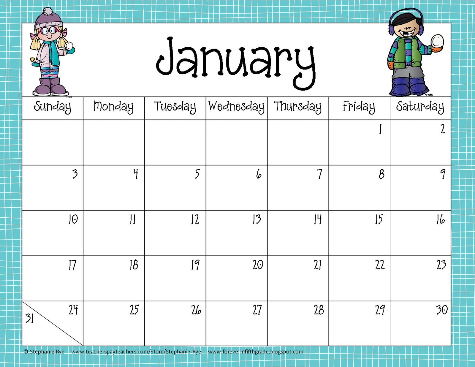 Fifth Grade Freebies: School Year Calendar Freebie.