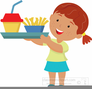 Free School Lunch Tray Clipart.