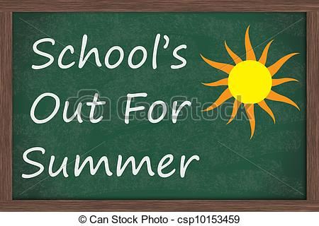 Schools Out Clipart.