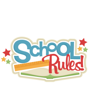 School Rules! SVG scrapbook title school svg cut files cricut cut.