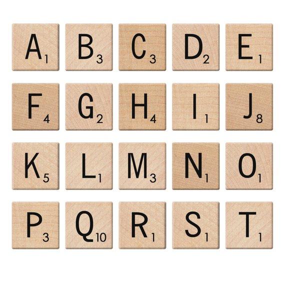 Digital Alphabet Scrabble Tiles Digital Clip Art Letters.