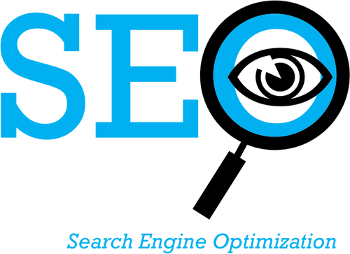 Search Engine Optimization logo vector clip art.