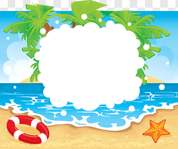 Seaside Beach cutout PNG & clipart images.