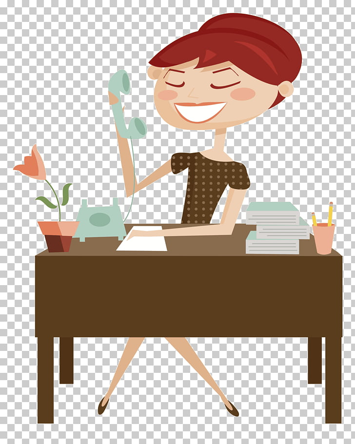 Secretary Cartoon, woman PNG clipart.