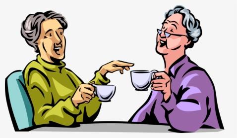 Vector Illustration Of Retired Elderly Senior Citizen.