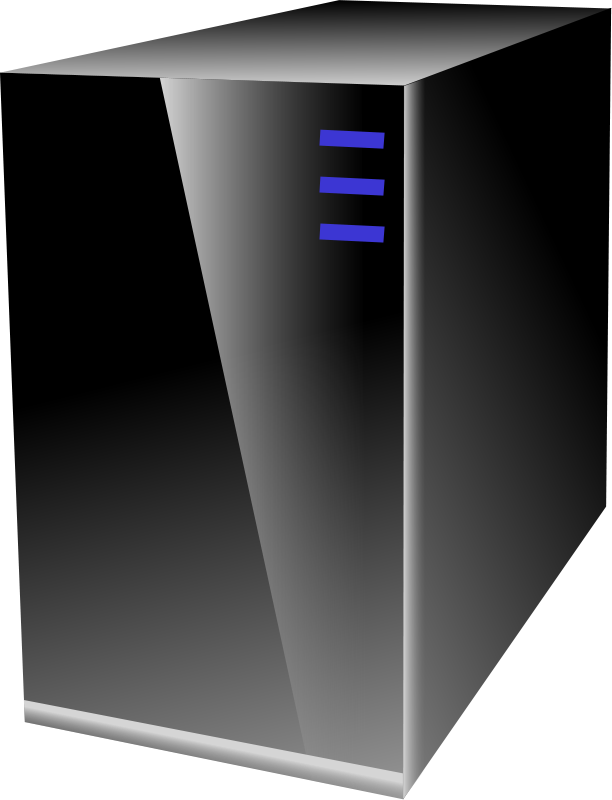 Free Clipart: Server Cabinet CPU.