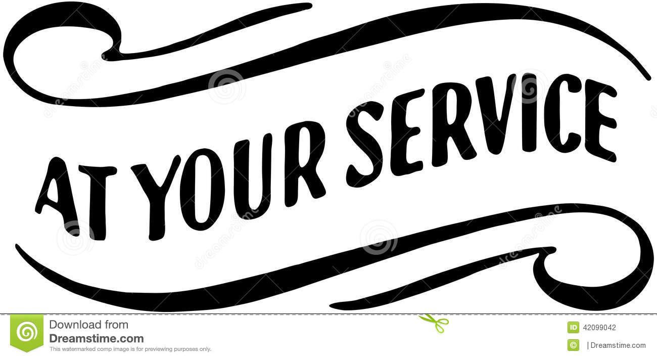 At Your Service Clipart.