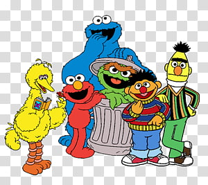 Sesame Street Characters transparent background PNG cliparts.