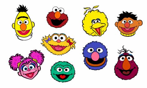 Sesame street characters.