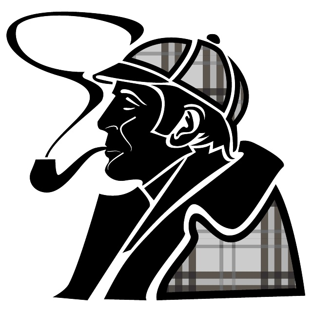 Sherlock Holmes Image Free Vector.