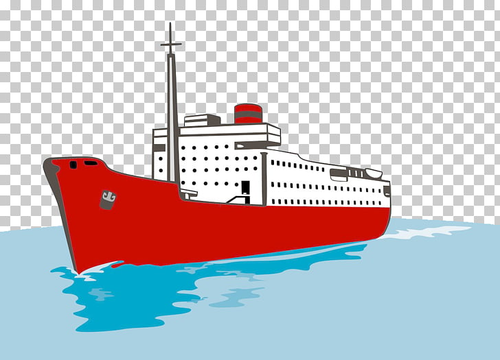 Cargo ship Container ship, Sailing in the sea PNG clipart.