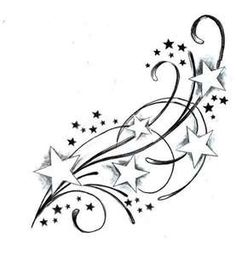 300 Shooting Stars free clipart.