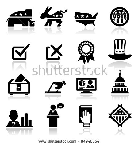 Political Icons Stock Images, Royalty.