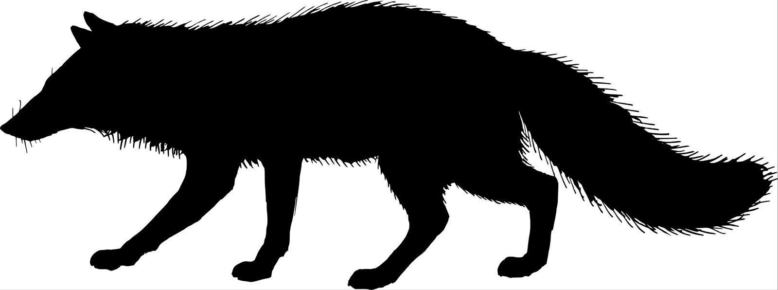 Running Fox Silhouette.