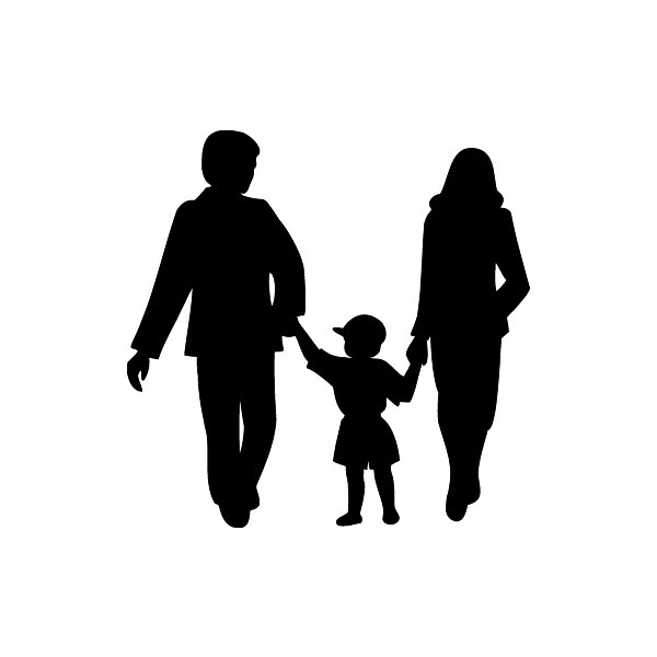 Family Clipart Silhouette.