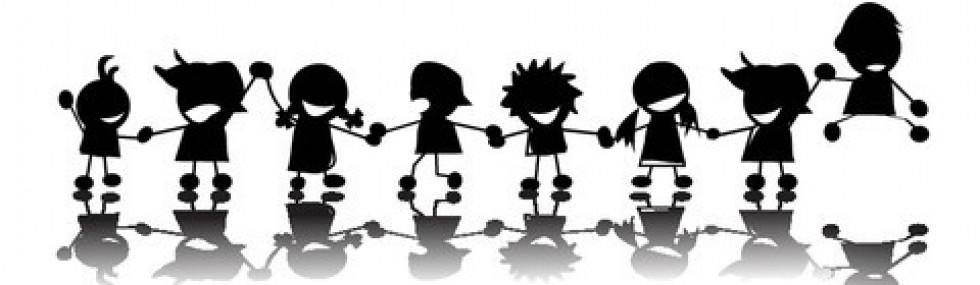 Children Holding Hands.