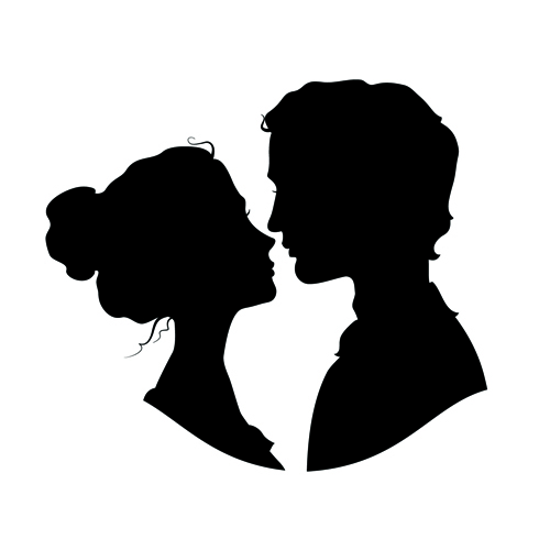 Man And Woman Silhouette.