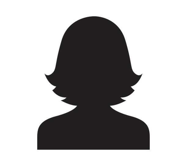 Silhouette Woman Head And Shoulders.