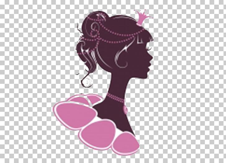 Princess Euclidean Illustration, Crowned woman head.