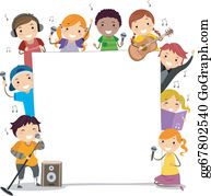 Singing Clip Art.