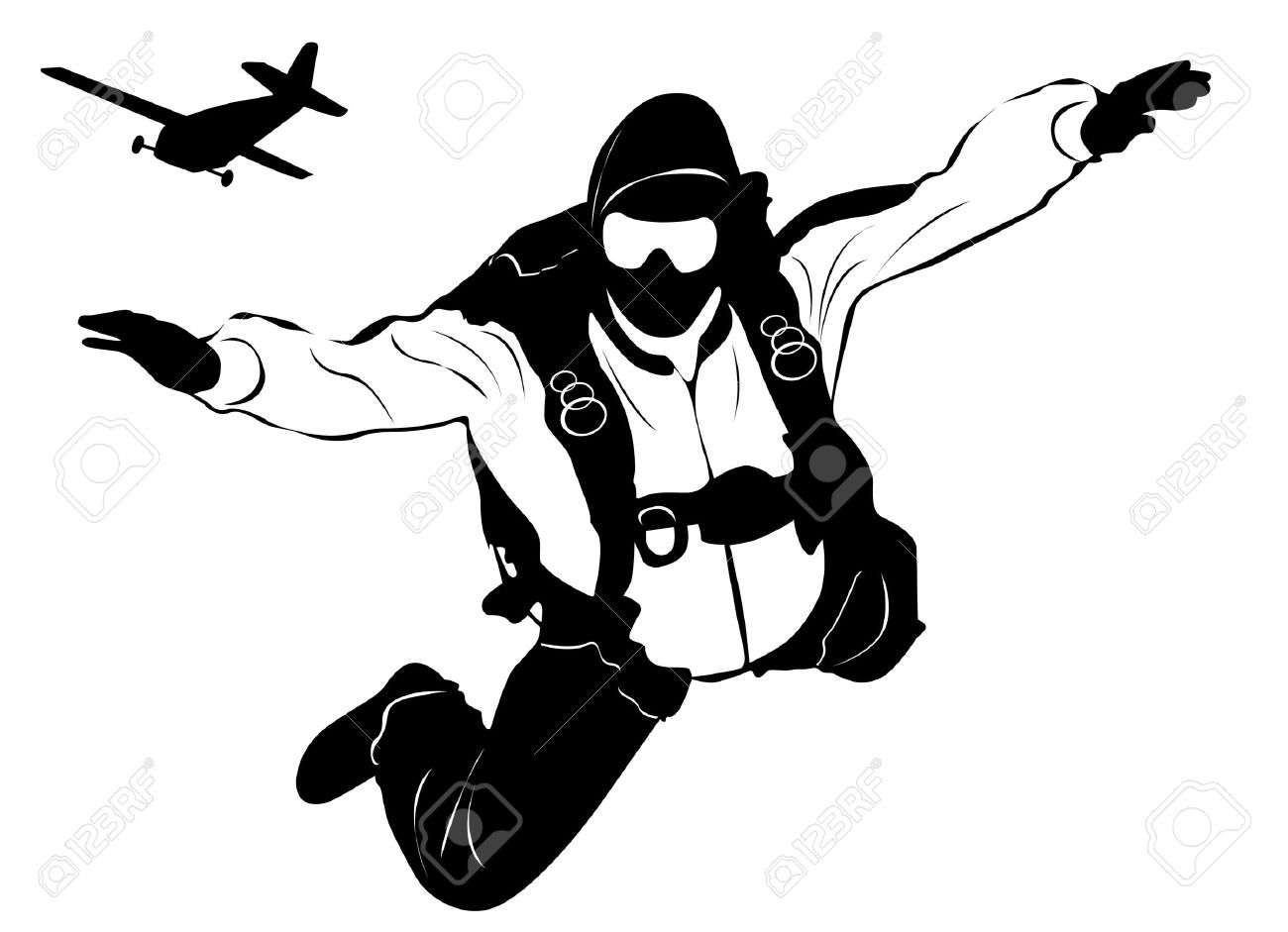 skydiving and plane.