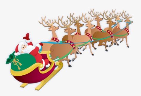 Free Santas Sleigh Clip Art with No Background.