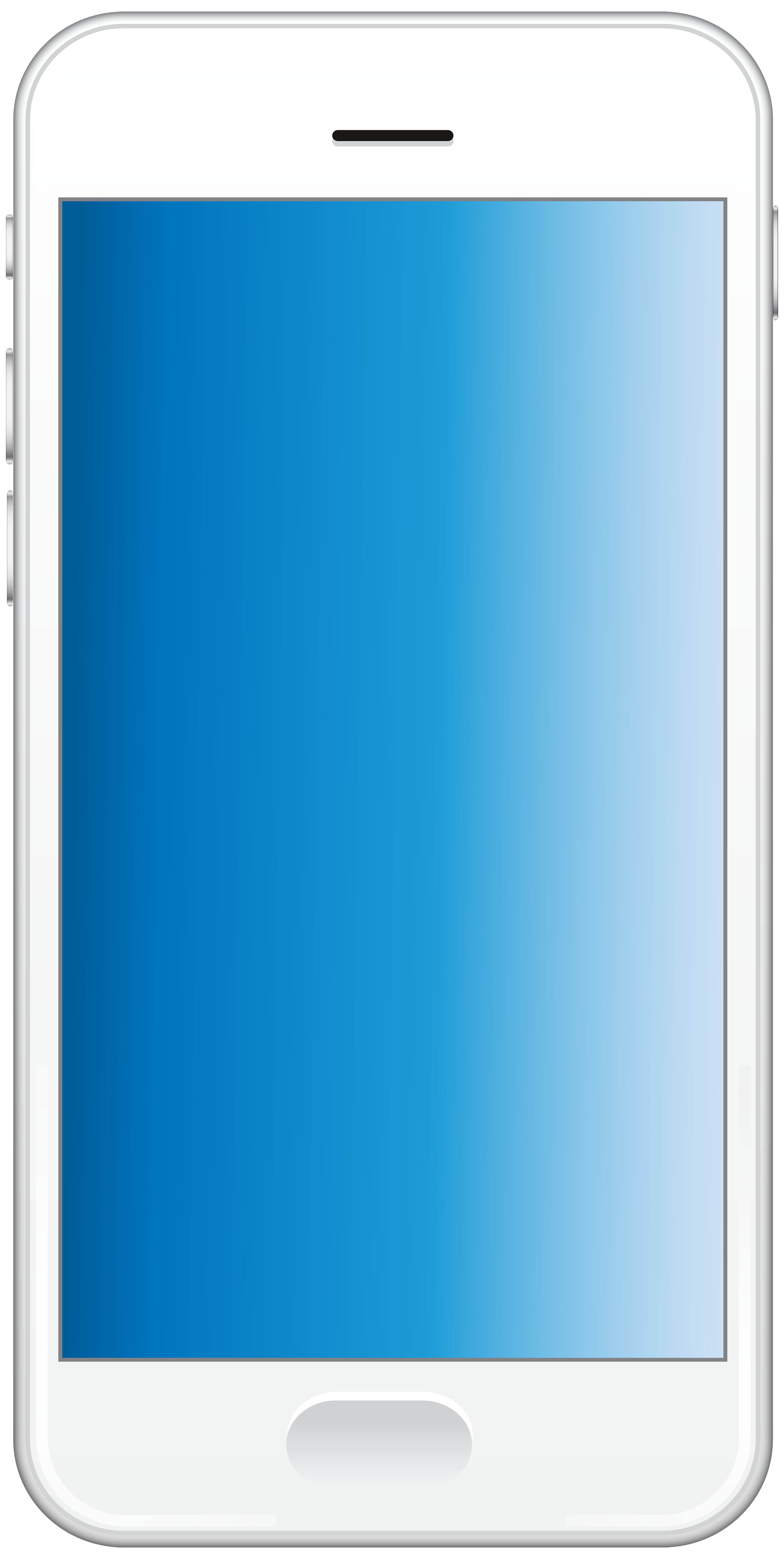 White Smartphone PNG Clip Art Image.
