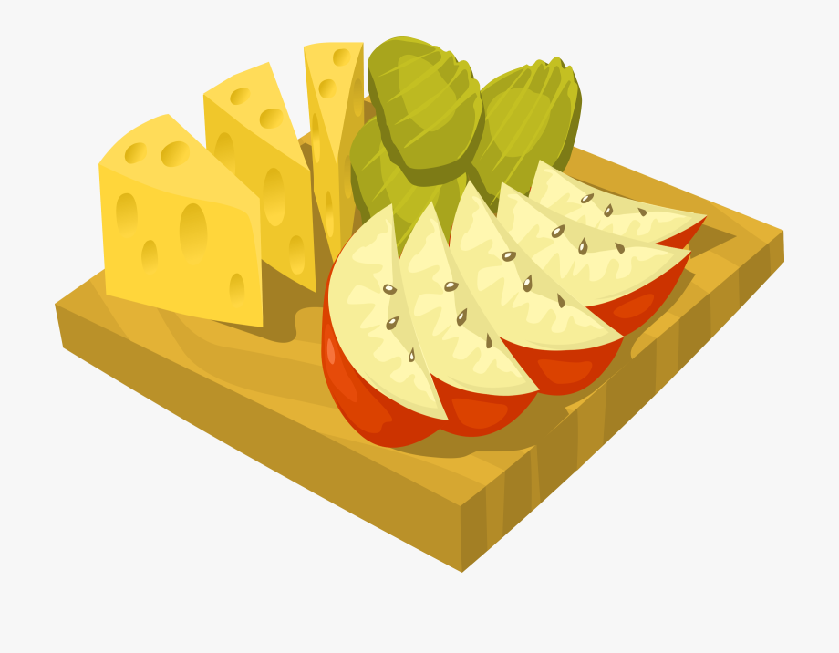 Snack Apple Clip Art Vector Graphic Free Clipart Image.