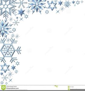 Christmas Snowflake Border.