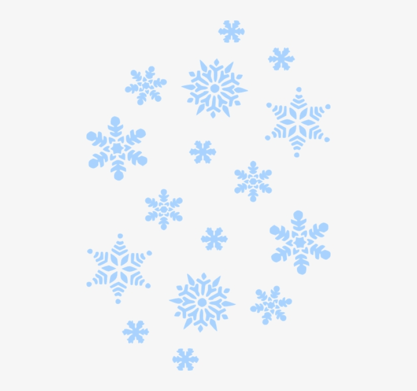 Free Png Download Blue Snowflakes Falling Png Images.