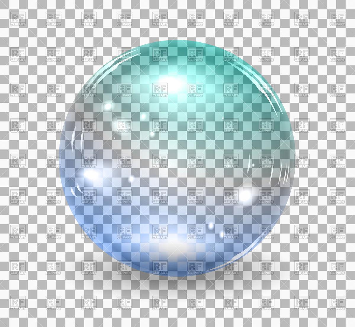 Transparent soap bubble Stock Vector Image.