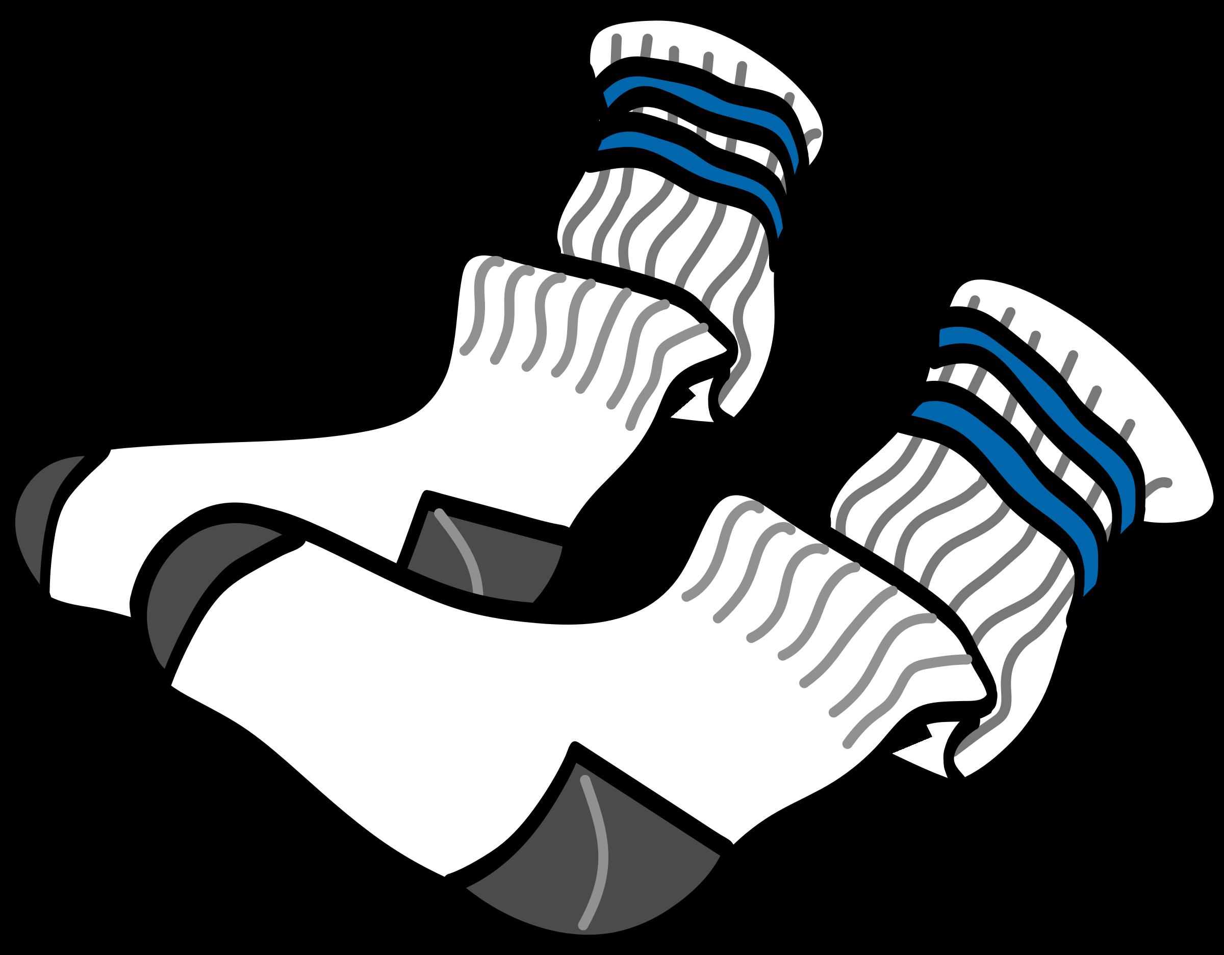 1834 Socks free clipart.