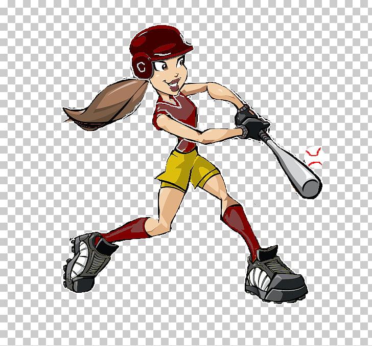Fastpitch softball Baseball Cartoon , Cartoon Softball.