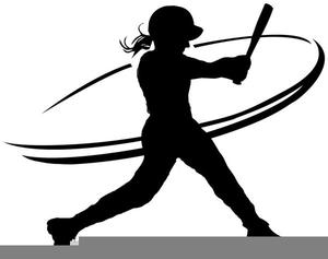 Girl Softball Player Clipart.