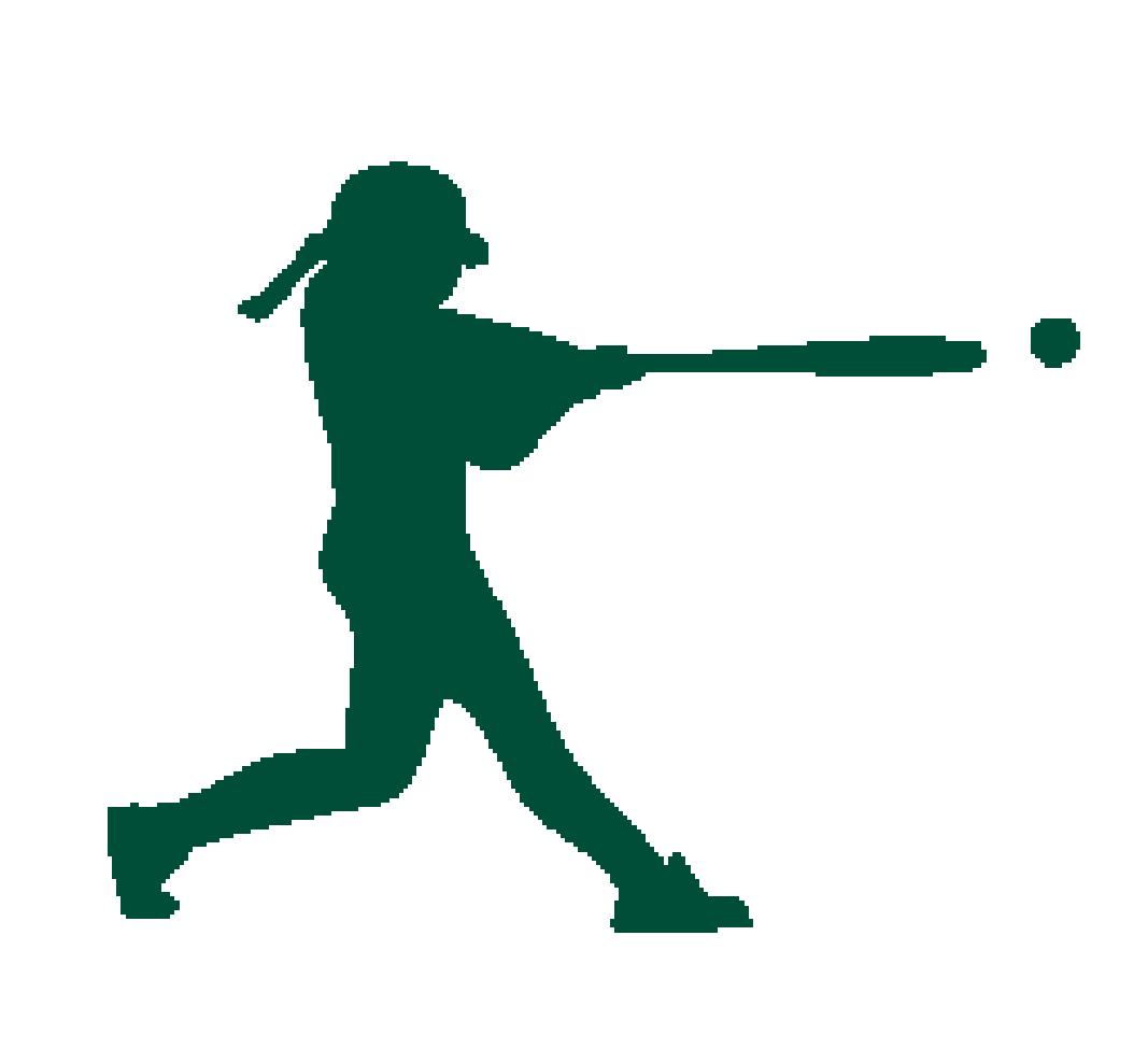 Batter Softball Catcher Silhouette Clip art.