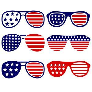 USA America Merica Sunglasses Cuttable Design Cut File. Vector.
