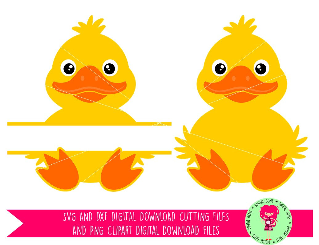 Duck, Duckling, Split Animal, SVG / DXF Cutting Files For Cricut.