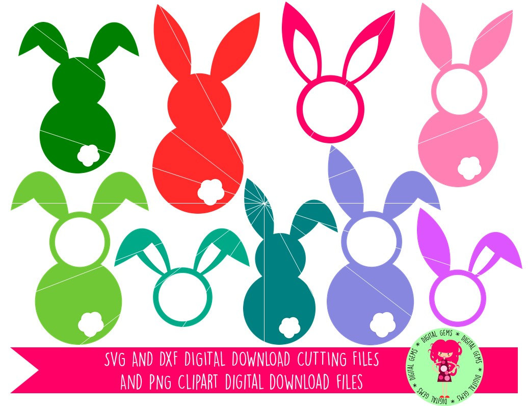 Easter Bunny Rabbit SVG / DXF Cutting Files For Cricut Explore.