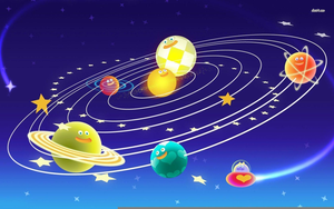 Free Animated Solar System Clipart.
