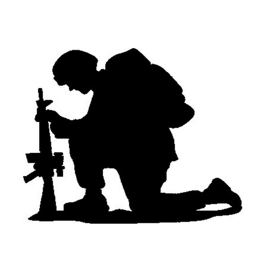 Soldier Praying Silhouette Png.