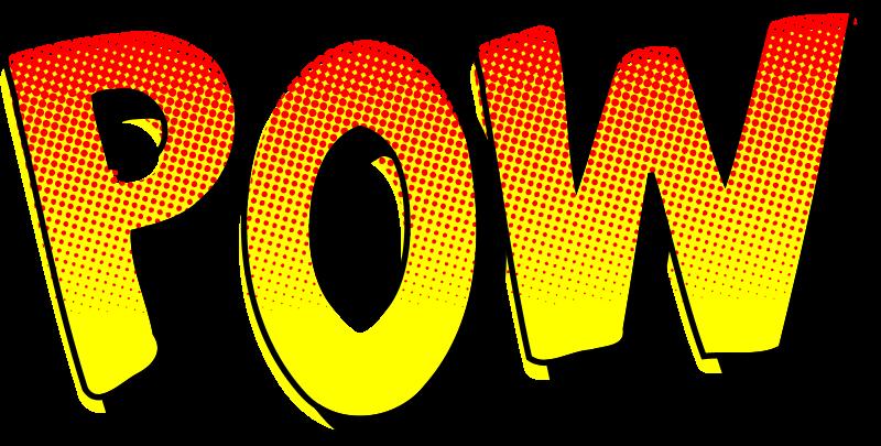 Free Clipart: POW vintage comic book sound effect.