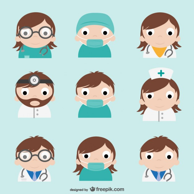 Doctor Characters Pack Vector.