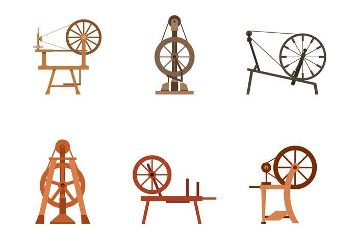 Free Spinning Wheel Vector.