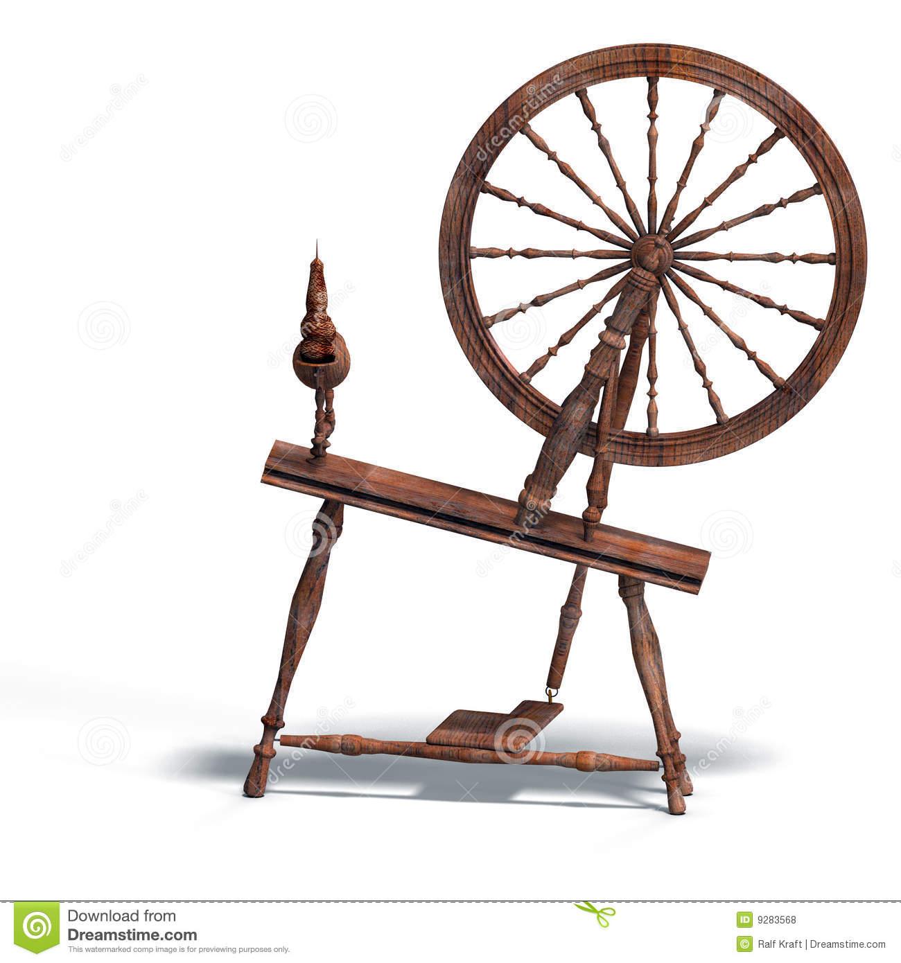 Sleeping Beauty Spinning Wheel Clipart.