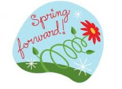 121 Spring Forward free clipart.
