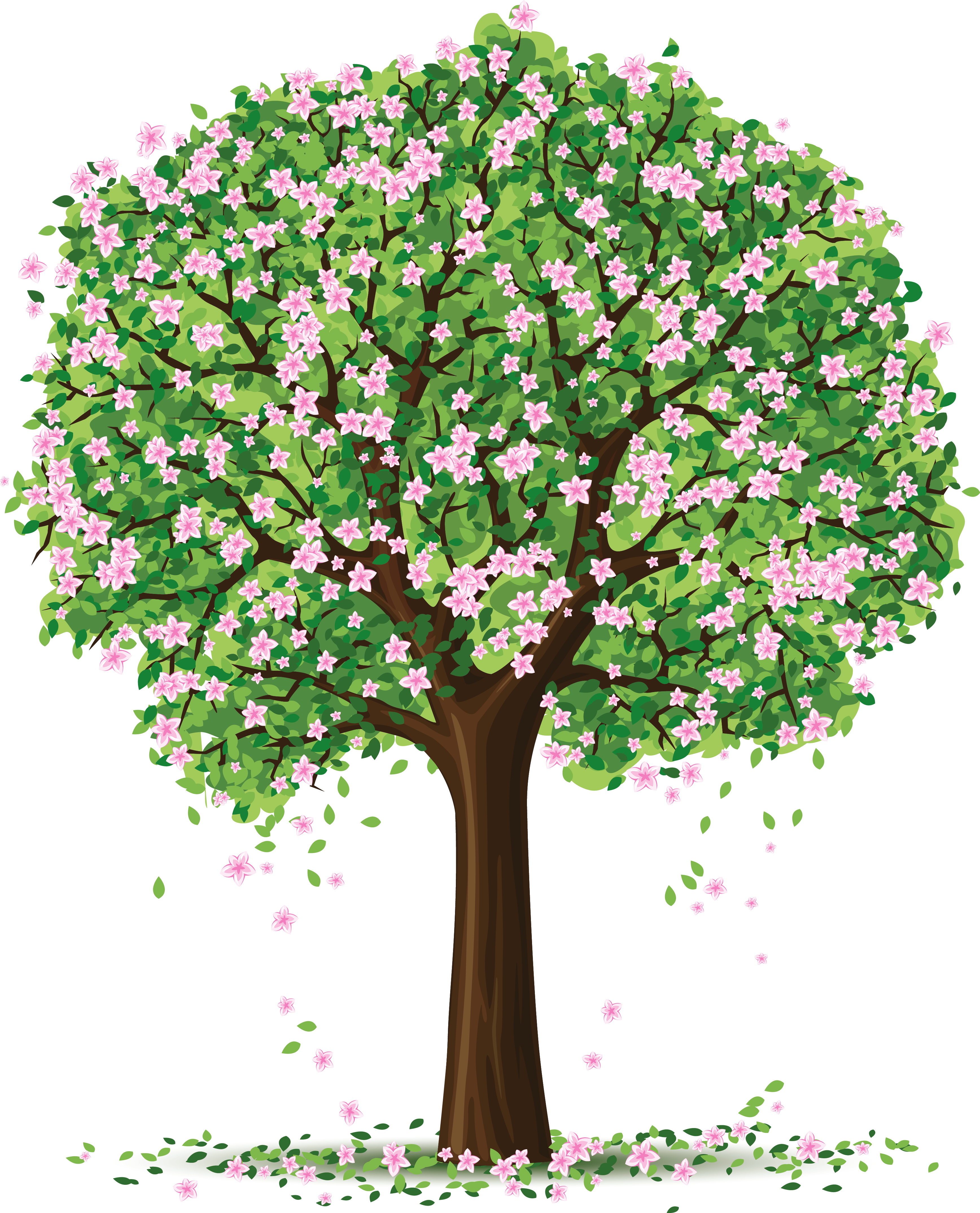 Spring Tree PNG Art Picture.